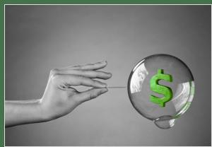 Bubble-gum bubbles and asset bubbles